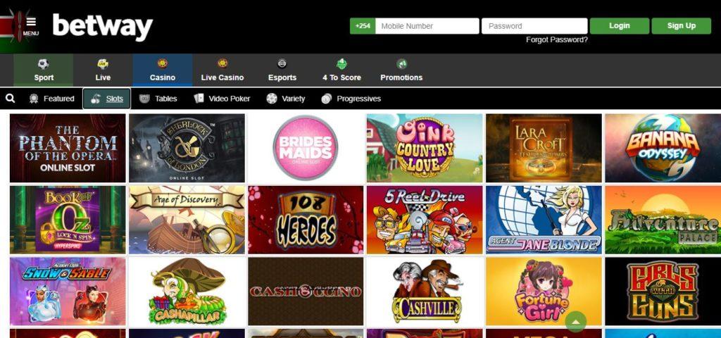 Betway Casino Kenya slot games