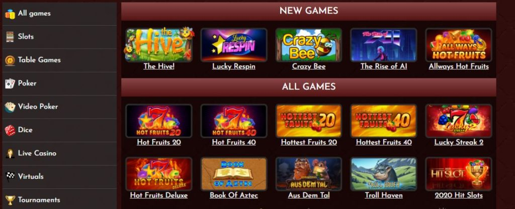 Coinbet24 Casino slot games