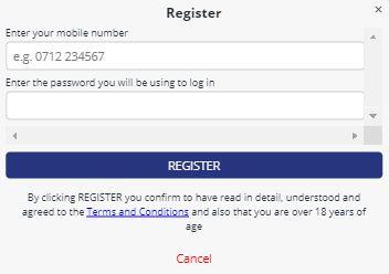 Betika casino registration form