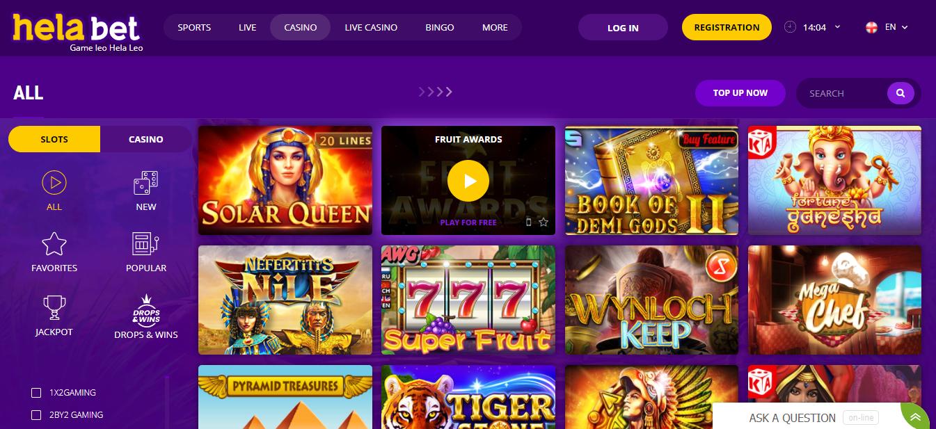 Helabet Casino kenya website