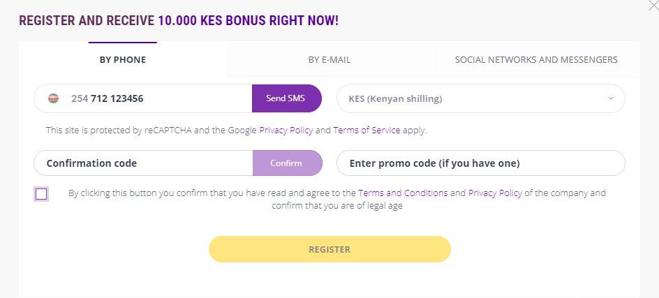 Helabet kenya register by phone