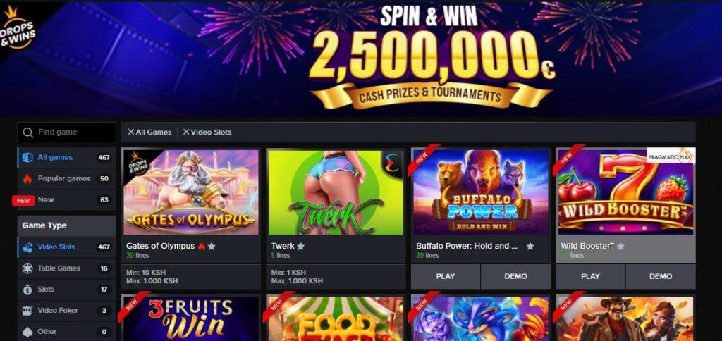 Mozzart Bet Kenya slot games