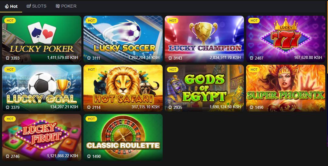 Bangbet casino Kenya games