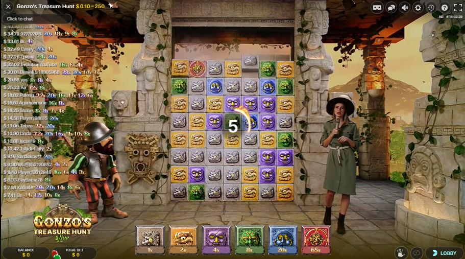 Gonzo's Treasure Hunt Live Casino