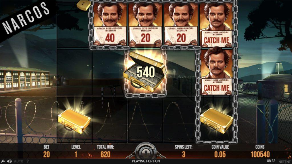 Narcos slot game bonus feature