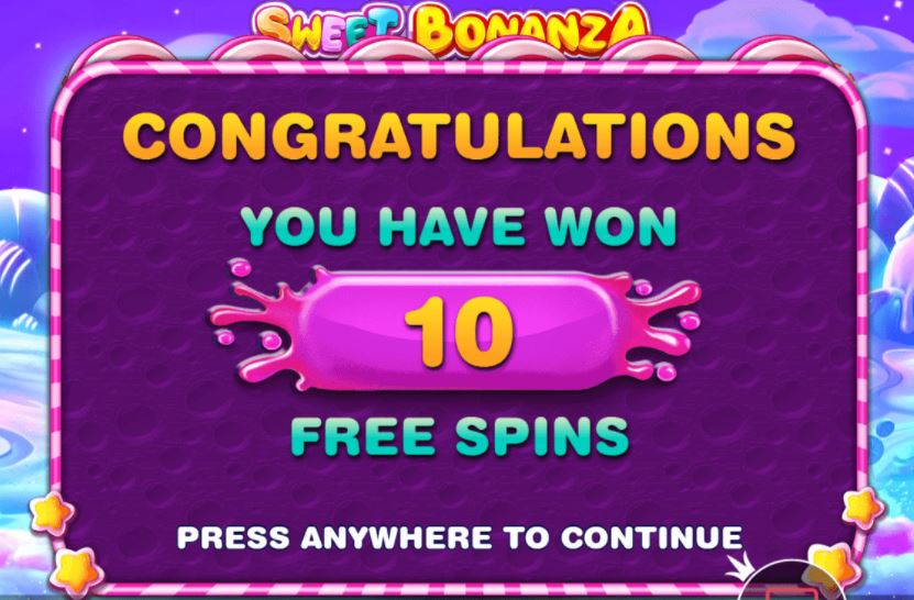 Sweet bonanza slot game free spins