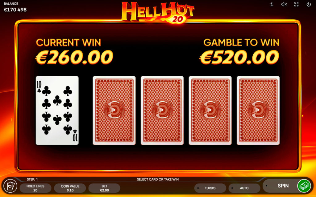 Hell Hot 20 gamble feature