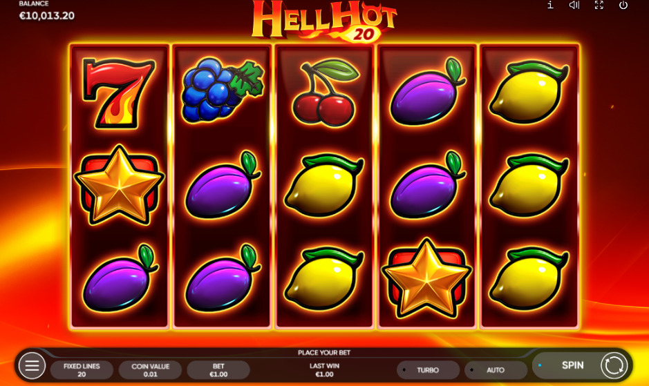 Hell hot 20 slot symbols