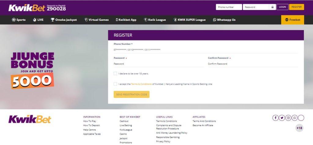 Kwikbet register