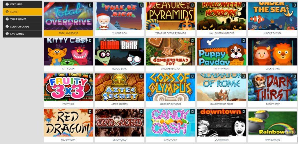 Kwikbet slot games